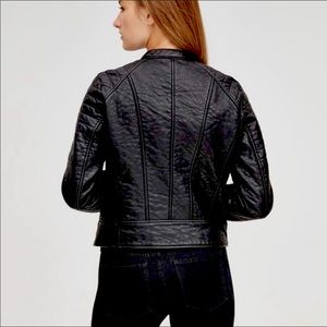 Andrew Marc Moto Jacket Black VERY COOL! NWT Med